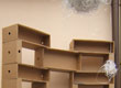 Mattoni - Ecologically sustainable bookcase selected by H2O edition for the Salone del Mobile